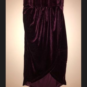 Backless Runched Velvet Wrap Cami Dress